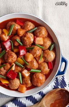 Sweet & Sour Chicken Meatballs #recipe