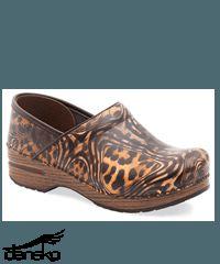 Dansko Professional Cheetah Patent Leather Clog