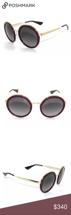 Prada 50T Bordeaux and Gray Polarized Sunglasses Brand new, comes with all accessories. Size: 54/23/140 Prada Accessories Sunglasses