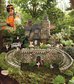 """Ultimate"" Fairy Garden...if I could afford it!  It's twigs and pebbles for my girls instead, I'm afraid!"