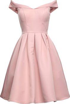 Chi Chi London Offshoulder Kleid 'DULCE DRESS' in rosa - deftfor. Grad Dresses, Trendy Dresses, Modest Dresses, Cute Dresses, Beautiful Dresses, Short Dresses, Fashion Dresses, Women's Fashion, Fashion Vintage