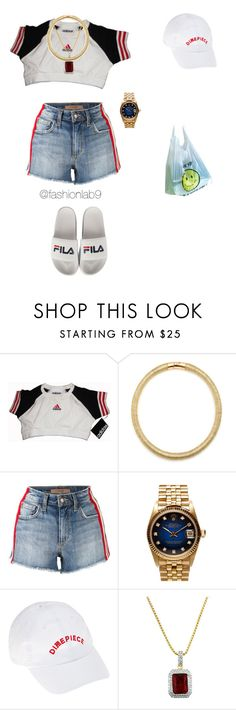 """Untitled #1123"" by alana-andrea-bacchus on Polyvore featuring adidas, Sole Society, Joe's Jeans, Rolex, Dimepiece and Roial"