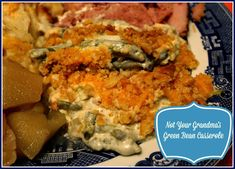 Tea and Cornbread: Not Your Grandma's Green Bean Casserole! - sides and veg -Sweet Tea and Cornbread: Not Your Grandma's Green Bean Casserole! - sides and veg - Bean Recipes, Side Dish Recipes, Yummy Recipes, Recipies, Southern Green Beans, Classic Green Bean Casserole, Holiday Side Dishes, Winter Dishes, Main Dishes
