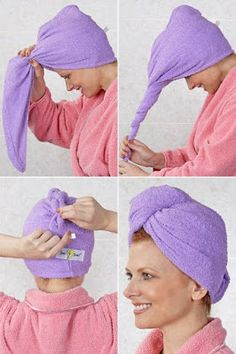 Learn to make an easy DIY hair towel using an up-cycled towel - perfect for the fashionista in your life! Easy sewing project - no pattern required. Indian Makeup And Beauty Blog, Hair Towel Wrap, Towel Crafts, Easy Sewing Projects, Sewing Hacks, Diy Hairstyles, Your Hair, Natural Hair Styles, Sewing Patterns