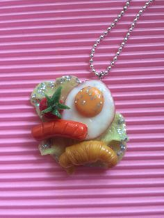 C*A-Sparkling American breakfast necklace on Etsy, ¥1,521.74