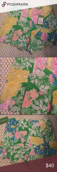 Lilly Pulitzer Folly Skort. Hibiscus Stroll Print. Lilly Pulitzer Folly Skort in Multi Hibiscus Stroll Print. Size 00. Brand New with tags. Never worn. Spring 2016 collection. Woven Vintage Rayon fabrication.  Flutter shorts. Back zipper.  No trades. 5% off bundles of two or more. I will update to 10% if bundle of 4 or more items! Lilly Pulitzer Shorts Skorts