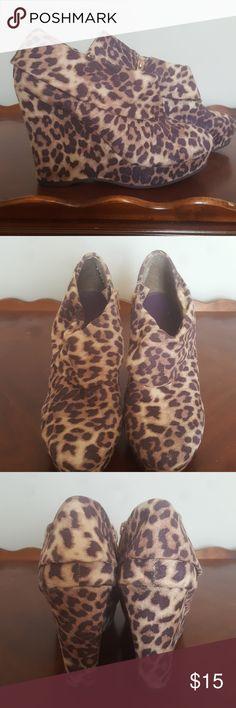 Madden Girl Leopard Booties Madden Girl Leopard Wedge Booties Madden Girl Shoes Wedges