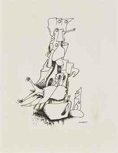 Yves Tanguy, L'objet double, c. Tristan Tzara, Max Ernst, Joan Miro, Various Artists, Drawings, Sage, Illustration, Artwork, Paradise