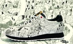 Onitsuka Tiger X Washio. In 2009 Onitsuka Tiger and Washio imagined a fantastical world where humans would be smaller than cats and would try to take on the legendary feline. The resulting in a battle royale between cats and humans is depicted on this collaboration style.