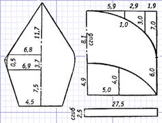2 (340x259, 17Kb) Hat Patterns To Sew, Clothing Patterns, Sewing Patterns, Sewing Projects For Beginners, Sewing Tutorials, News Boy Hat, Fashion Sewing, Hat Making, Free Sewing