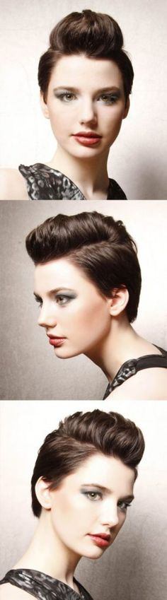 Short Funky Mocha Brown Hairstyle