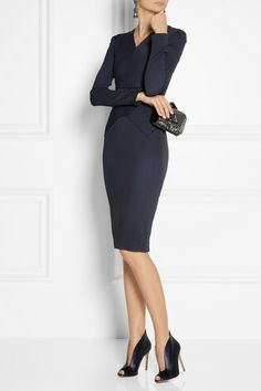 Roland Mouret Navona stretch-crepe dress