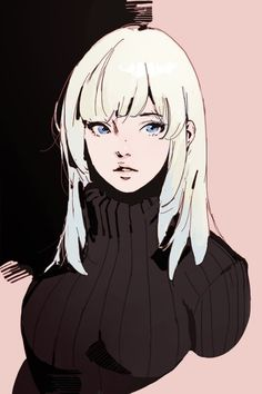 그림체/데포르메 how many sweaters should a woman own - Woman Knitwear and Sweaters Female Character Design, Character Design References, Character Art, Art And Illustration, Character Illustration, Anime Art Girl, Manga Art, 5 Anime, Girl Sketch