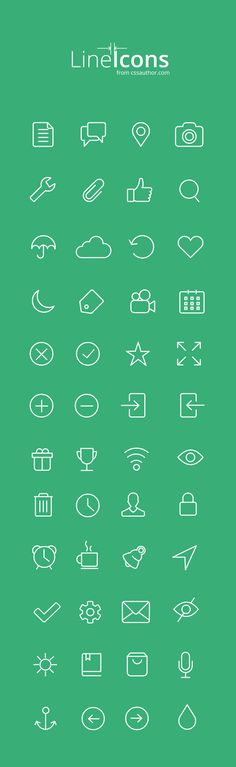 Free Line Icons Inspired by IOS7