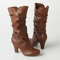 Brown boots from forever 21