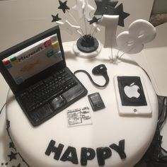 Luke's 18th birthday cake who is a computer buff