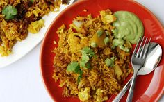 Spiced vegetable pilaf with cauliflower, ginger and garam masala