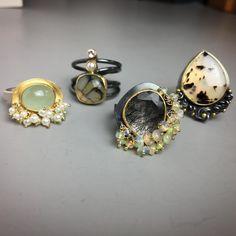 Today's work, so far... #instajewelry #handmadejewelry #rings #artisanjewelry #fussjewelry