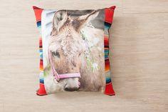 Totem Donkey Pillow Serape Trim