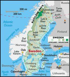 Map Of Sweden Google Zoeken Zweden Pinterest Sweden Maps - Sweden map google