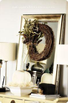 Keisha Campbell  --  wreath on mirror...