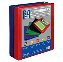 """Samsill View Binder, 1"""", 4 Pack, Basic Assortment Paper Organization, Binder, Presentation, Packing, Sam's Club, Projects, Bag Packaging, Log Projects, Trapper Keeper"""