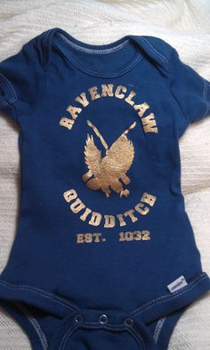 Handpainted+and+dyed+onesie+with+Harry+Potter+by+lilblackraincloud,+$15.00 My poor children will be dressed in nerdy clothes from the time their born, just to make their crazy mom happy.