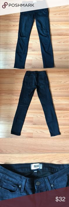 Paige Verungo Ankle jeans Dark blue skinny jeans Paige Jeans Jeans Ankle & Cropped