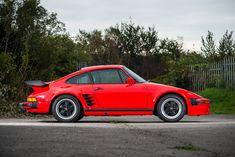1989 Porsche 911 (930) Turbo 'Flachbau' - Silverstone Auctions 1989 Porsche 911, Porsche 930 Turbo, Porsche 911 Carrera 4s, 911 Turbo, Black Porsche, Porsche Sports Car, Utility Trailer, Ferrari, Flat Nose