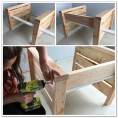 Modern Outdoor Chair from and Ana White Diy Furniture Easy, Diy Outdoor Furniture, Diy Furniture Projects, Woodworking Projects Diy, Diy Wood Projects, Furniture Plans, Woodworking Tools, Modern Outdoor Chairs, Creation Deco