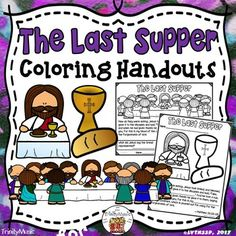 Help your students celebrate, visualize and experience the Last Supper (aka The Lord's Table or Supper) with these free coloring worksheets and handouts. They're great for a Sunday school lesson or religious ed. activity!