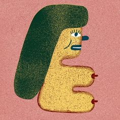 Woman (side View) 2 by Liam Barrett Illustration, via Flickr