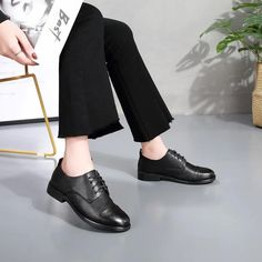 Women's Casual Shoes Women Female Ladies Mother Sheepskin Genuine Leat – Touchy Style Winter Work Shoes, Casual Work Shoes, Comfortable Work Shoes, Women's Casual, Black Shoe Boots, Black Shoes Sneakers, Shoes With Jeans, Flat Shoes, Shoes Women