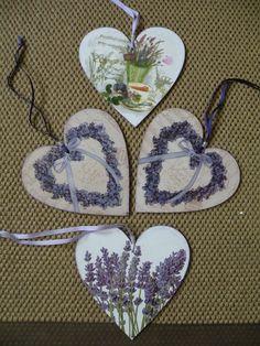 Decoupage hearts by Lenka