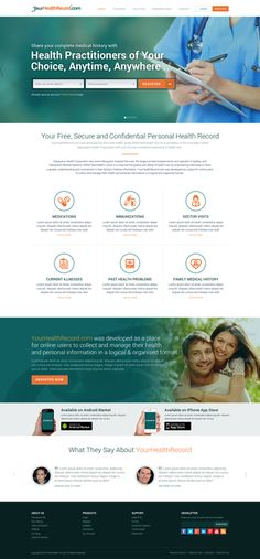 Chance to redesign the prominent health record website - YourHealthRecord by xandreanx.