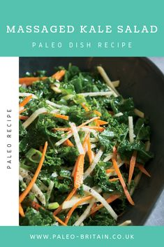 Massaged Kale Salad  #Paleo #food #recipe #keto #diet #KaleSalad