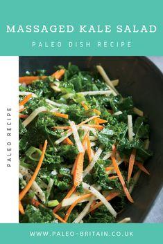 Massaged Kale Salad  #Paleo #food #recipe #keto #diet #KaleSalad