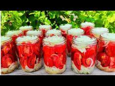 Preserving Food, Preserves, Mason Jars, Stuffed Peppers, Canning, Vegetables, Desserts, Youtube, Vegetable Gardening