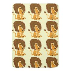 Funky Lion Art Baby Blanket #lions #animals #baby #blankets #funny #gifts #art And www.zazzle.com/naturesmiles*