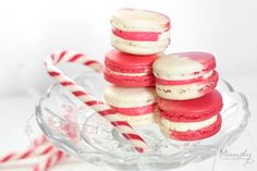 Bright & cheerful candy cane macarons I decided to make Christmas themed macarons this year as a pre-Christmas gift hamper for some friends. Gingerbread was an obvious choice and mulled spice with brandy buttercream was definitely a success, but then I had another idea, what about candy canes? T