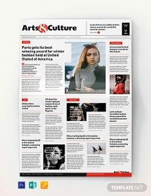 Art and Culture Newspaper Template Newspaper Template Word, Newspaper Names, Microsoft Publisher, Microsoft Word, Layout Template, Templates, Newspaper Design Layout, Example Of News, Social Media Branding