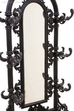 French Cast Iron Hall, Coat, Stick, Umbrella Stand - Antiques Atlas Antique Hall Tree, Vintage Coat Rack, Hall Stand, Candle Sconces, Cast Iron, Wall Lights, Candles, French, Mirror