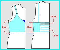 Como hacer un crop top juvenil03 Diy Crop Top, Crop Tops, Sewing Basics, Sewing Hacks, Top Croped, Diy Bra, Pinterest Design, Diy Tops, Bra Pattern