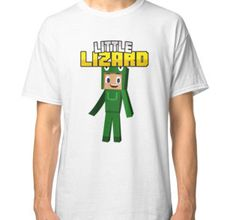 Little Lizard Gaming Minecraft Youtuber T-Shirt for Kids and Children. More…