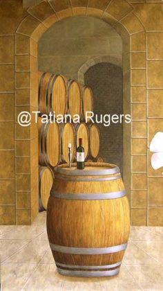 Tatiana_Rugers_wine_cellar.jpg (303×540). Mural ideasWine CellarsWall ... & 49 best wine cellar painting ideas images on Pinterest | Cellar ...