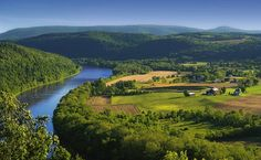 The Susquehanna River from the Marie Antoinette Overlook, on Route 6 east of Towanda, Bradford County, in the Endless Mountains.