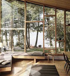 Waterfront oasis // Design by Helsinki-based @studioelina.  @pauliinasalonen #architecture #departmentof #spacedesign #interiordesign #architecturephotography #homedecor #lakehouse