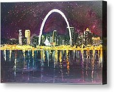 Louis Skyline by Made by Marley - St. Louis Skyline Fine Art Prints and Posters for Sale St Louis Skyline, Skyline Painting, Thing 1, Sale Poster, Any Images, Clear Acrylic, Artsy Fartsy, Fine Art America, Image Search