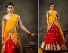 Attractive Contemporary Half Sari
