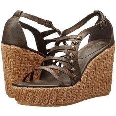 Volcom Luck Women's Wedge Shoes ($54) ❤ liked on Polyvore featuring shoes, sandals, high heel shoes, ankle strap platform sandals, ankle tie wedge sandals, wedge heel sandals and volcom sandals
